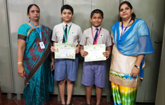 Winners of the drawing competition organised by PCRA (Petroleum Conservation Research Association)