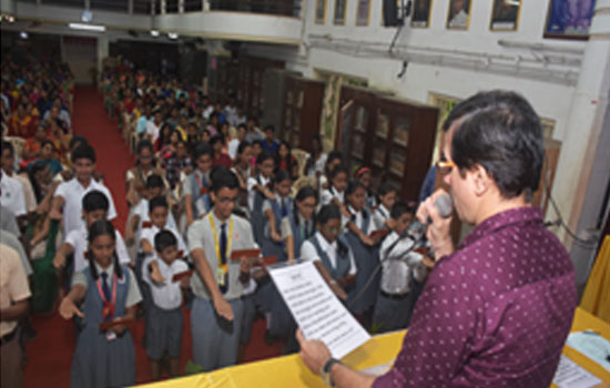 Prize distribution function for the S.S.C. toppers and oath ceremony for the student academic council members