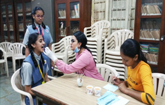 A free Dental check-up camp for the students