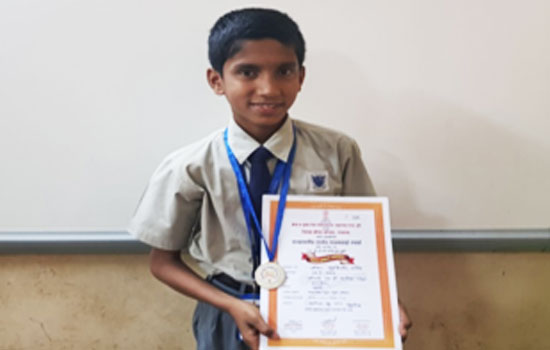Mst. Malik Sridhar J. secured 2nd rank in the 'State Level School Taekwondo Sports Tournament' held at district sports complex, Alibaug.