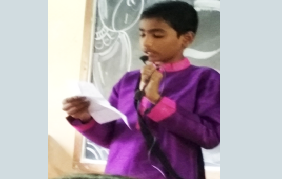 Recitation of a Gujarati poem
